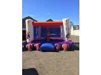 Boxing bouncy castle