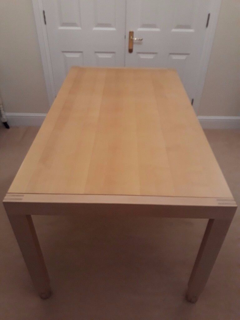 Extending birch dining table