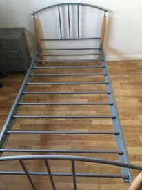 Bed frame, metal, single bed