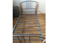 Bed frame, metal, single bed