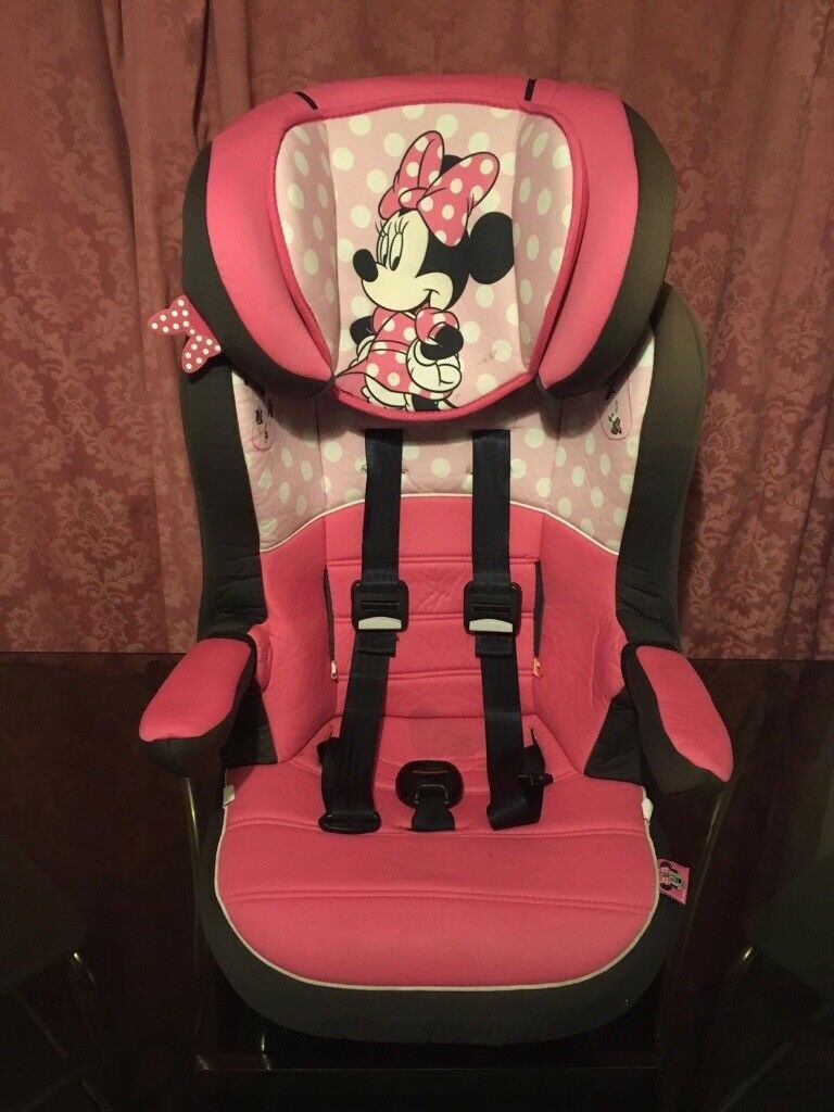 Disney Minnie Mouse IMAX High Back Booster Car Seat With Harness