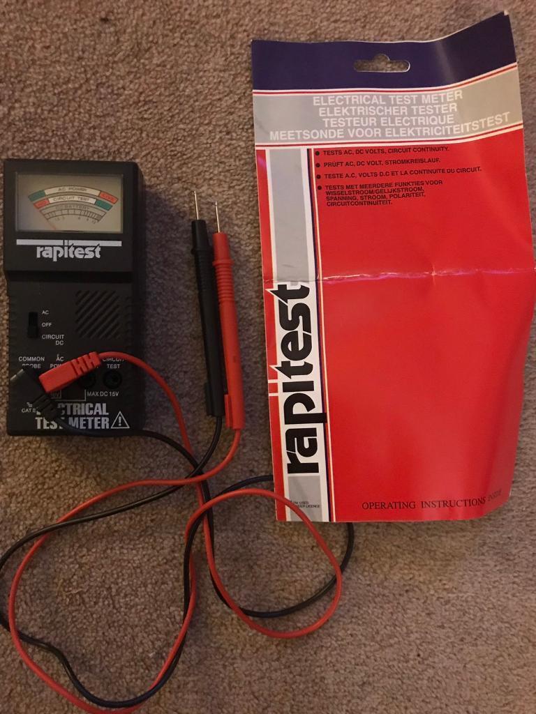 Rapitest Electrical Test Meter In Epsom Surrey Gumtree Tester
