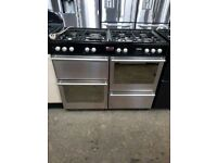 STOVES stainless steel 110CM RANGE COOKER IN GOOD WORKING ORDER and condition £280