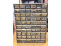 60 Draw Rack full of Screws