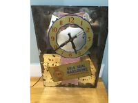 Clock Vintage 1950's Gold Seal Margarine