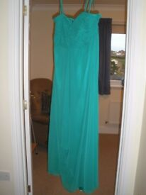Cocktail Waterfall Dress - Jade Green, Lined - NEVER Worn