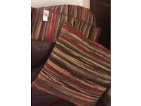 4 M & S Cushions Red/Brown mix