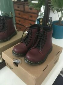 Dr Marten Brooklee Cherry Red Toddler boots
