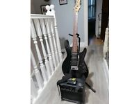 Guitar electric guitar Ashton BB10 10WATT AMPLIFIER IS WORKING PERFECTLY.