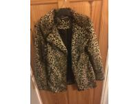 Vintage faux fur coat. Size U.K. 12.