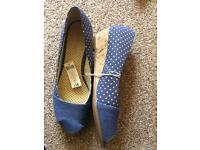 Brand new Denim wedge size 7