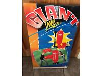 Giant inflatable punch bag and gloves