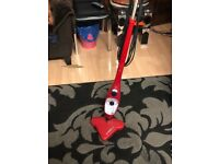 H2O X5 MOP STEAM CLEANER. RED. IN EXCELLENT CONDITION. LONG CORD.