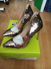 Ted baker sequin shoes size 6
