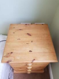 Pitch pine bedside tables