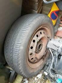 1 r15 4 stud honda steel wheel with 195 /60 / r15 gd tread tyre