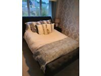 King sized ottoman sleigh bed without mattess