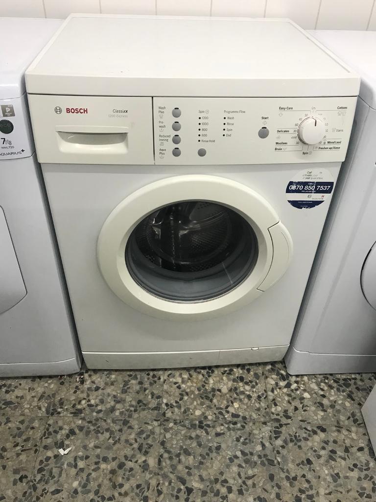 Bosch washing machine 7kg 1200rpm 4 month warranty free delivery and installation thanks 🙏