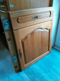 Kitchen integrated cupboard door x 3