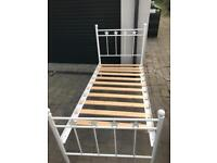 The white company single bed frame.