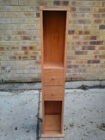 Lightwood CD Rack with 2 Drawers and Shelving £10 each