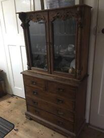 Solid wood dresser, ripe for restoration