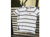 White SuperDry Polo Shirt, Medium