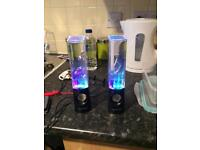 Two Water Jet Speakers