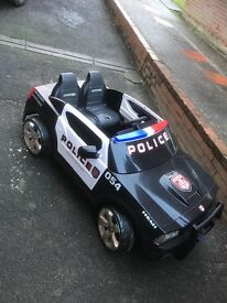 Dodge Charger Child's 2 person ride on Police Car 12v