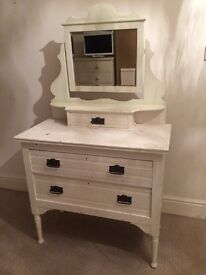 Shabby chic dressing table, solid pine, just needs repainting to your taste