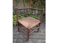 Vintage/Anitique Bobbin Corner Chair