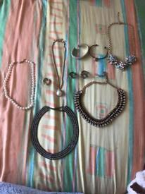 Mix of dress jewellery