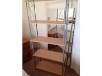 TALL 5 SHELF STORAGE DISPLAY UNIT, 160 CM TALL,76 CM WIDE,31 CM DEEP.