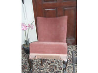 SMALL PINK BEDROOM CHAIR