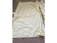 Curtains, light shade for baby nursery and cot bed duvet all matching mothercare sleepy bunny range