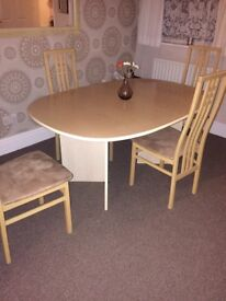 Dining set with matching sideboard and mirror