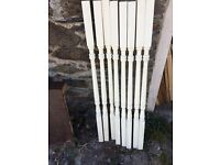 Stair spindles painted white