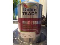 Dulux smooth masonry paint- 2 tins of crystal grey