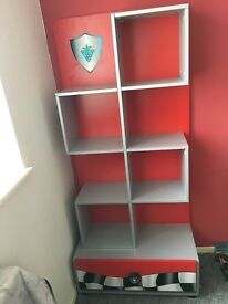 Boys bedroom furniture bed/shelf/chest of drawers sold as set collection only excellent condition