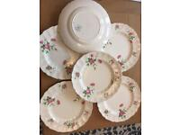 Set of six vintage style dinner plates