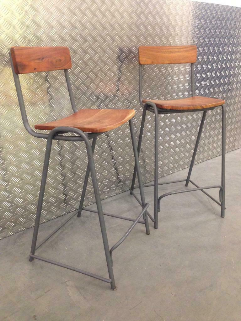 Pleasing Pair Graham Green Rustic Industrial Style Kitchen Bar Stools Laura Ashley John Lewis Habitat Loaf In Sutton London Gumtree Gmtry Best Dining Table And Chair Ideas Images Gmtryco