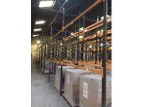 JOB LOT dexion type industrial pallet racking ( storage , industrial shelving )