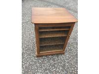 ERCOL Glazed Storage Cabinet , from Warwick range , in Golden Dawn Finish - In Good Condition.