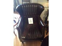 Belvoir Leather Fireside Chair