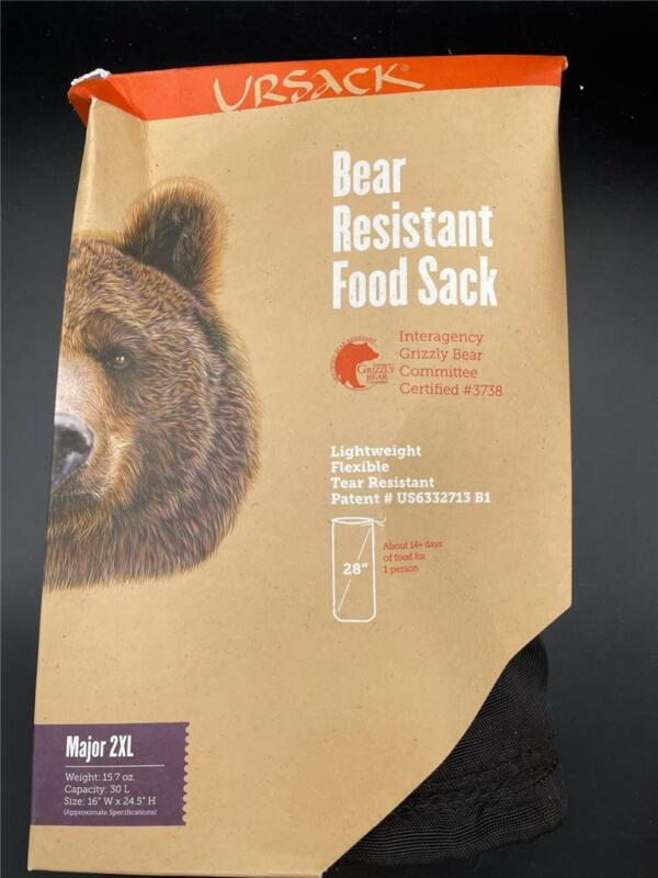 "NEW Ursack Bear Resistant Food Sack Major 2XL 15.7oz 16"" x 24.5"" 30L Capacity"