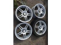 Team Dynamics Blades, Retro alloy wheels, VW Alloys Blade Alloy Wheels 5 Spoke 5x120 set of 4
