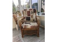 2 seater sofa and 2 chairs for conservatory in good condition