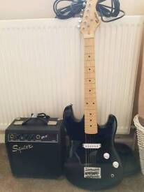 Rockburn half size electric guitar and amp