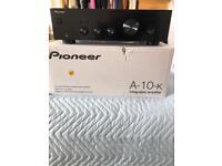 Pioneer Amp boxed & 2 sets Wharfdale speakers.