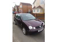 2002 Volkswagen Polo 1.4 TDI 10 months mot cheap to tax and run ideal first car
